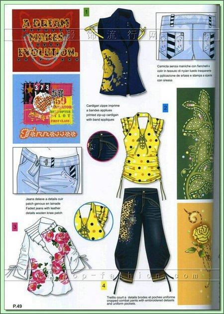 著名設計師最新時尚服裝設計手稿圖片